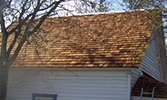 wooden shingles on house